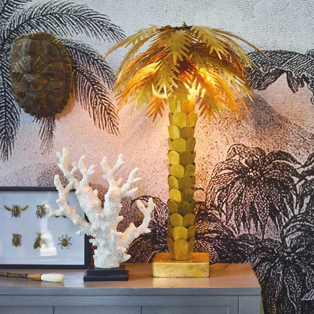 Lampada da tavolo palma in ottone HKliving