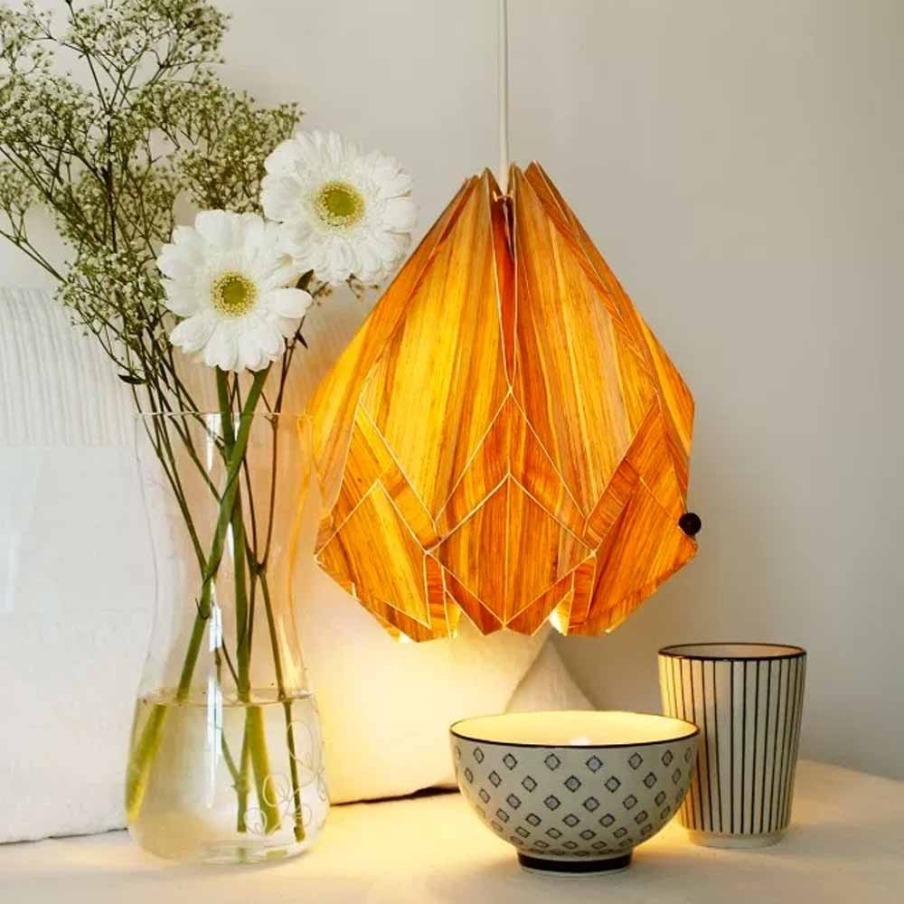 Hanahi Ecowood pendant lamp Tedzukuri Atelier