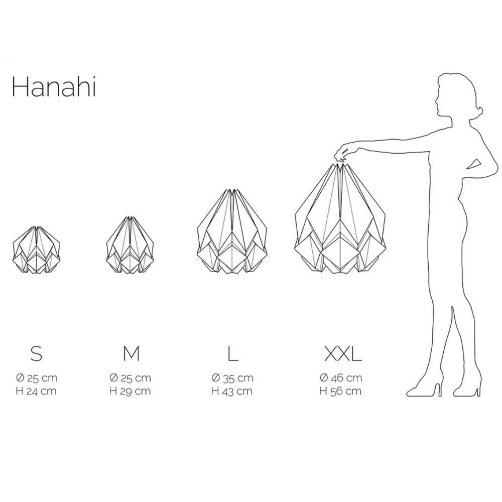 Suspension Hanahi blanche avec couleur Tedzukuri Atelier
