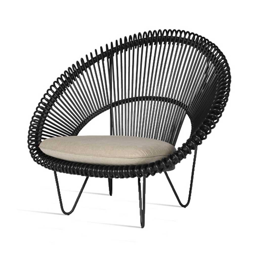 Roy Cocoon zwarte fauteuil Vincent Sheppard
