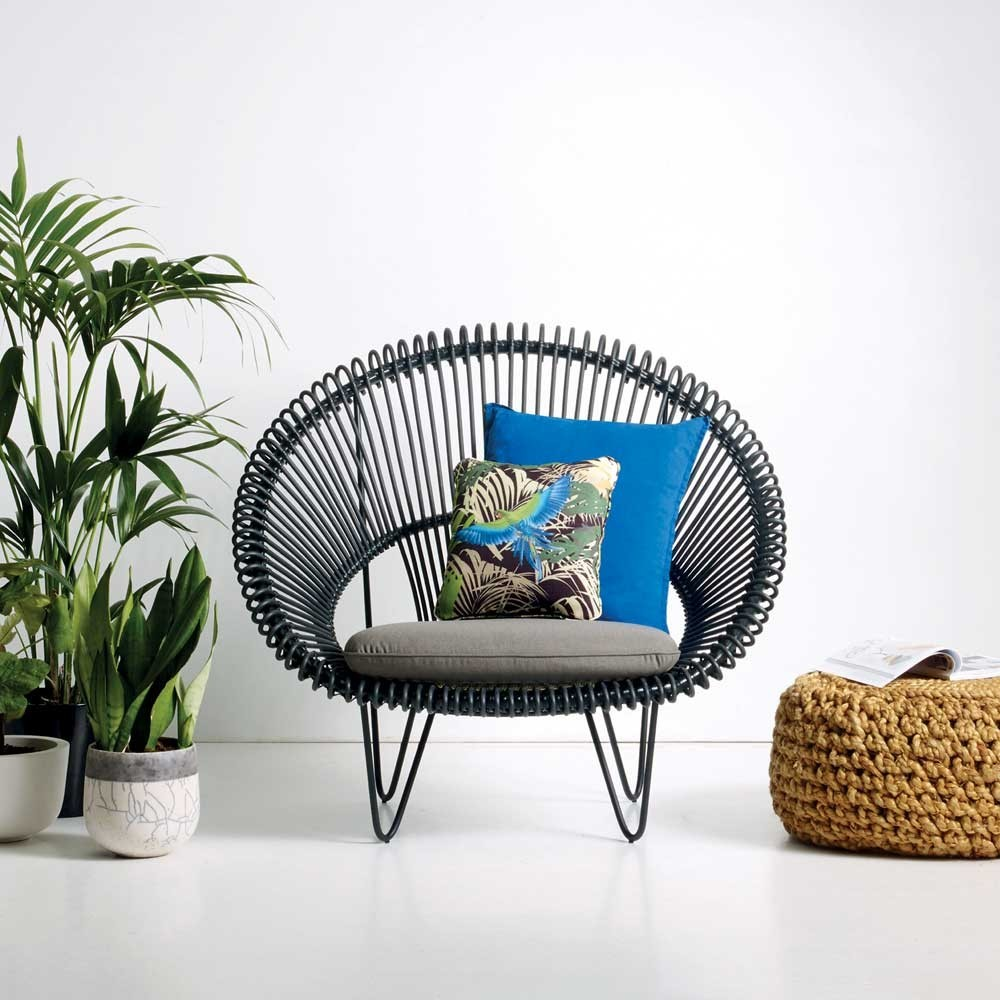 Roy Cocoon black armchair Vincent Sheppard