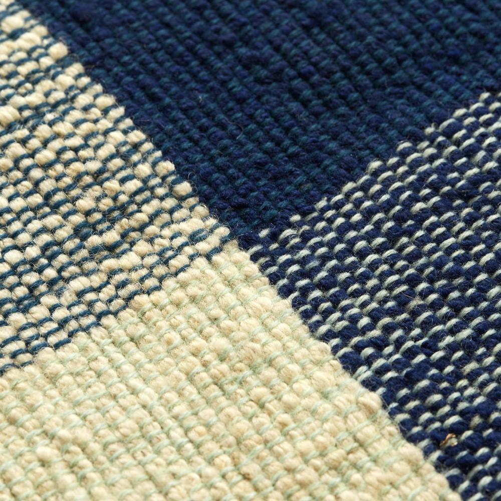 Nobsa vloerkleed S blauw / mint / creme ames