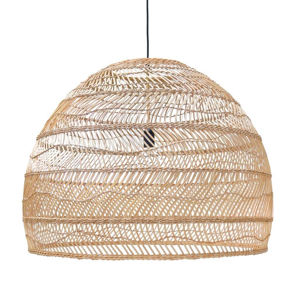 Bal hanglamp in natuurlijk wicker L HKliving