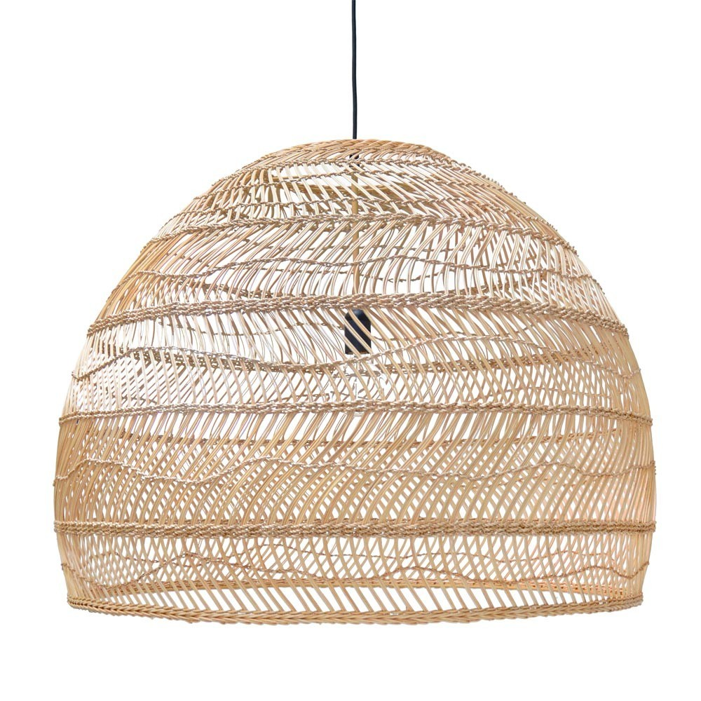 Wicker hanging lamp ball natural L HKliving