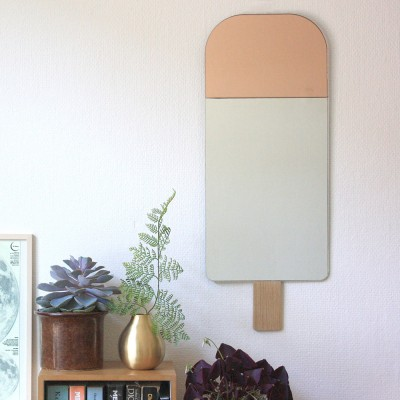 Specchio gelato rosa