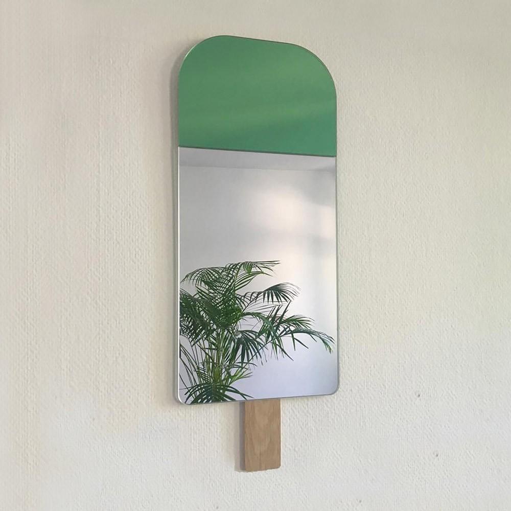 Specchio gelato verde esotico EO