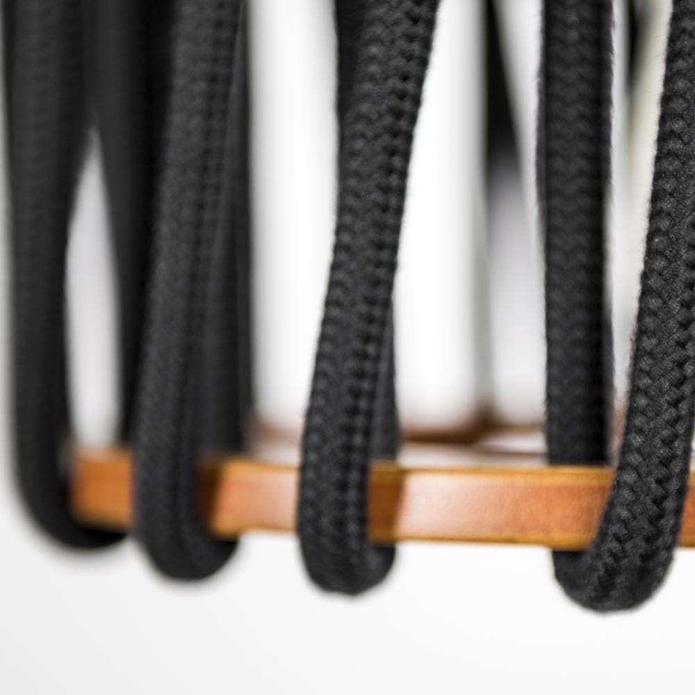 Suspension Macaron noir S Emko