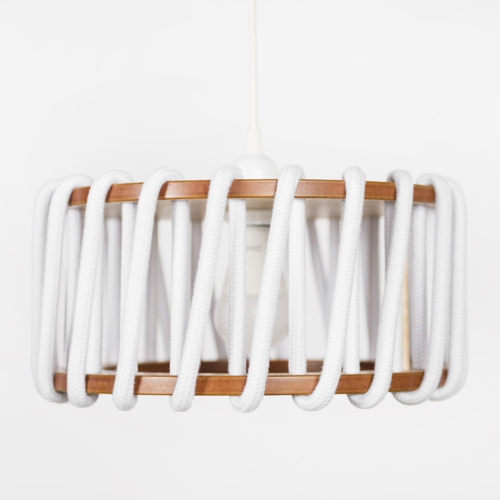 Witte hanglamp Macaron S Emko