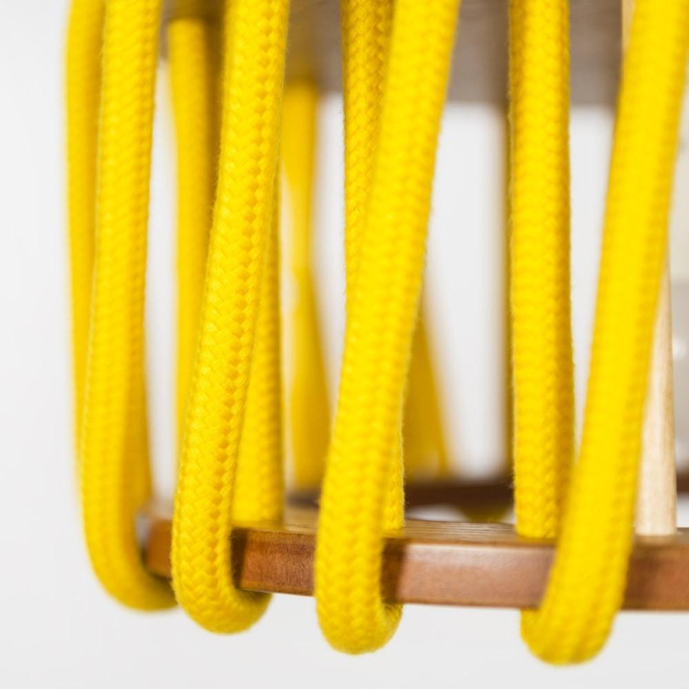 Lampada a sospensione Macaron gialla S Emko