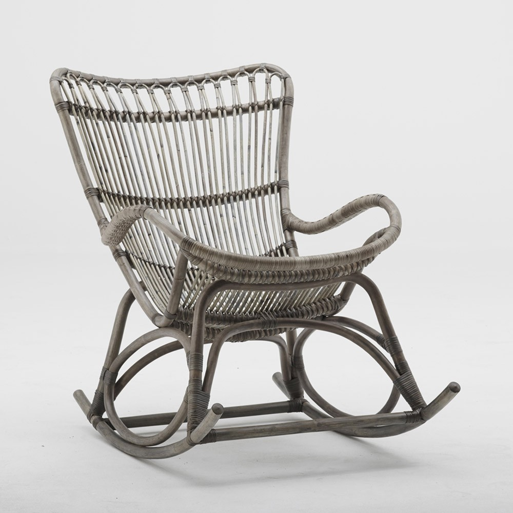 Monet rocking chair taupe Sika-Design