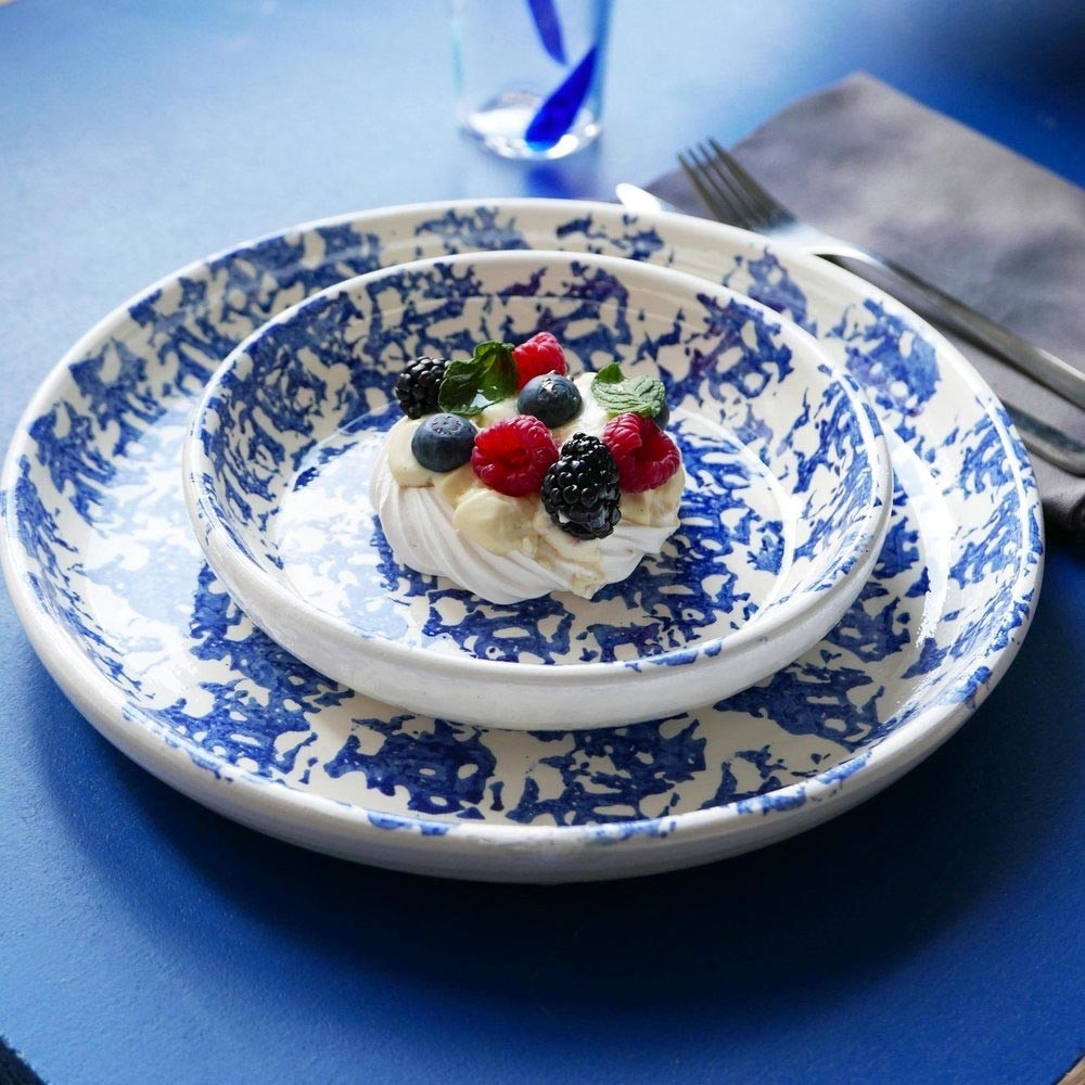Small plate Blue Datcha