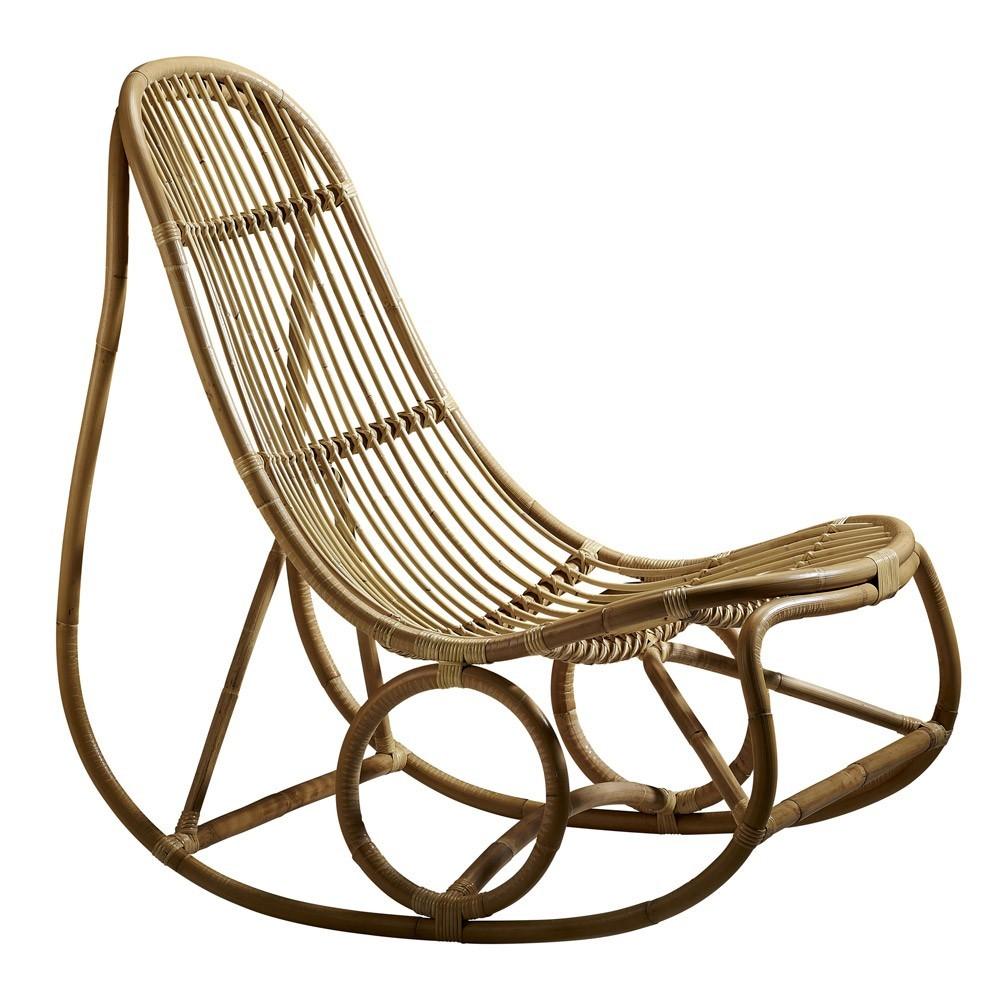 Sedia a dondolo Natural Nanny Sika-Design