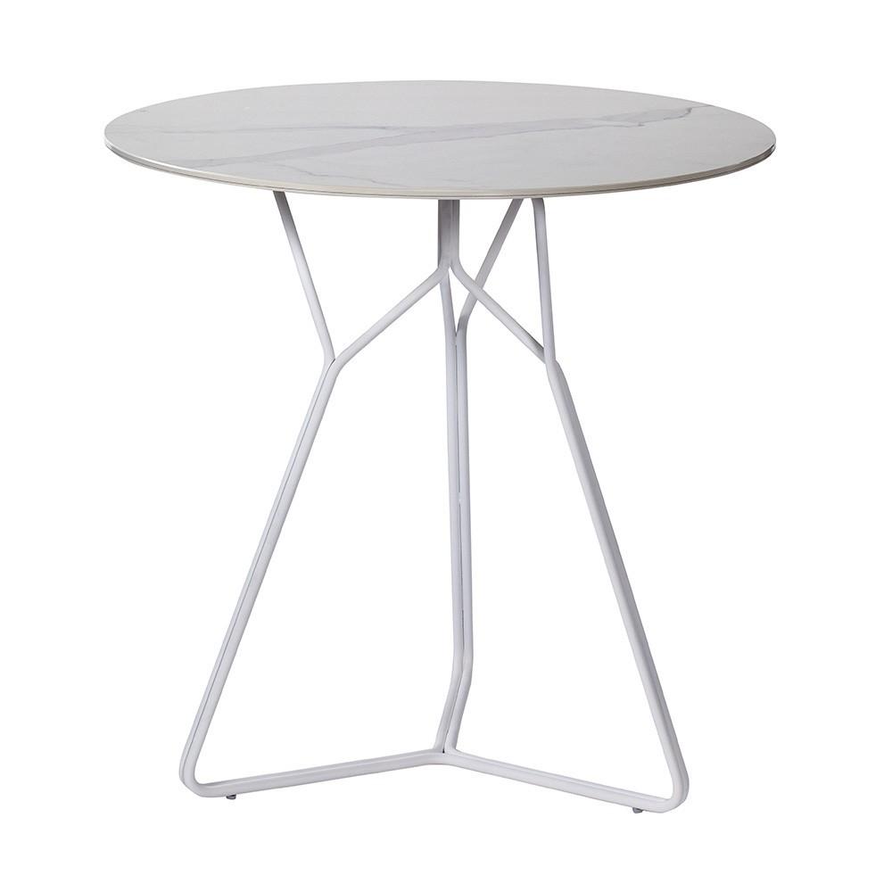 Table Serac 72 cm blanc Oasiq