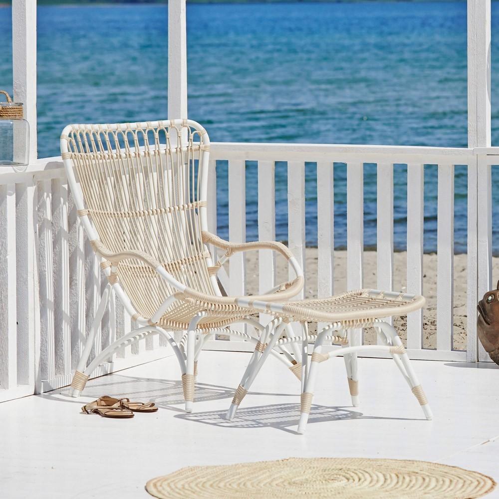 Monet armchair white Sika-Design