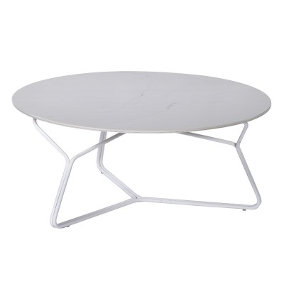 Table basse Serac 85 cm blanc