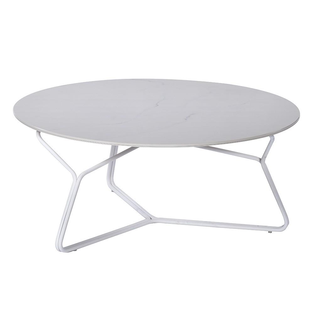 Serac coffee table 85 cm white Oasiq