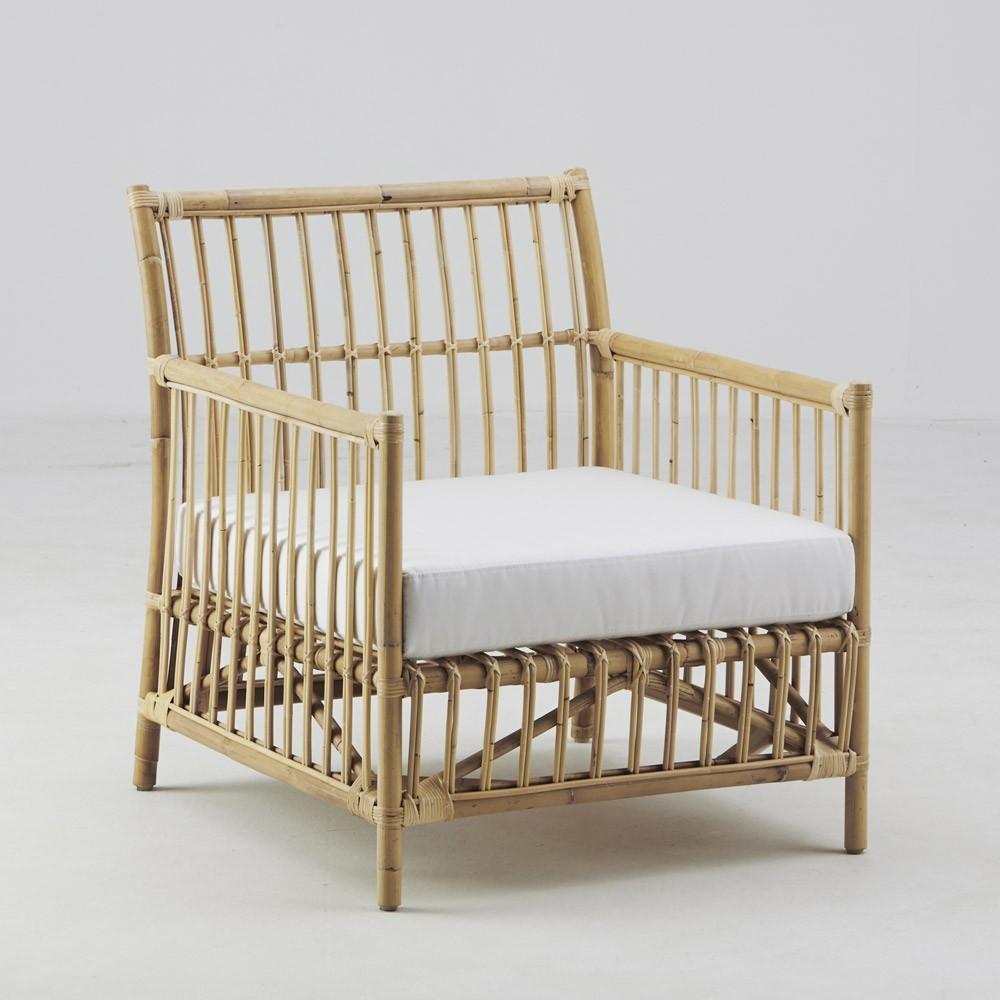 Caroline armchair skin on natural Sika-Design
