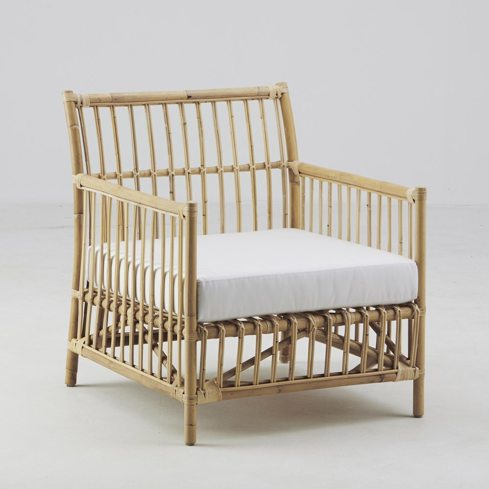 Fauteuil Caroline naturel brut Sika-Design