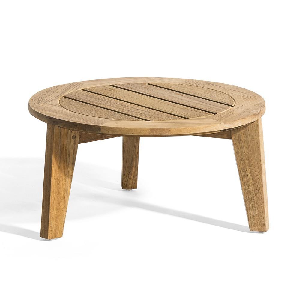 Table d'appoint Attol teck 50 cm Oasiq