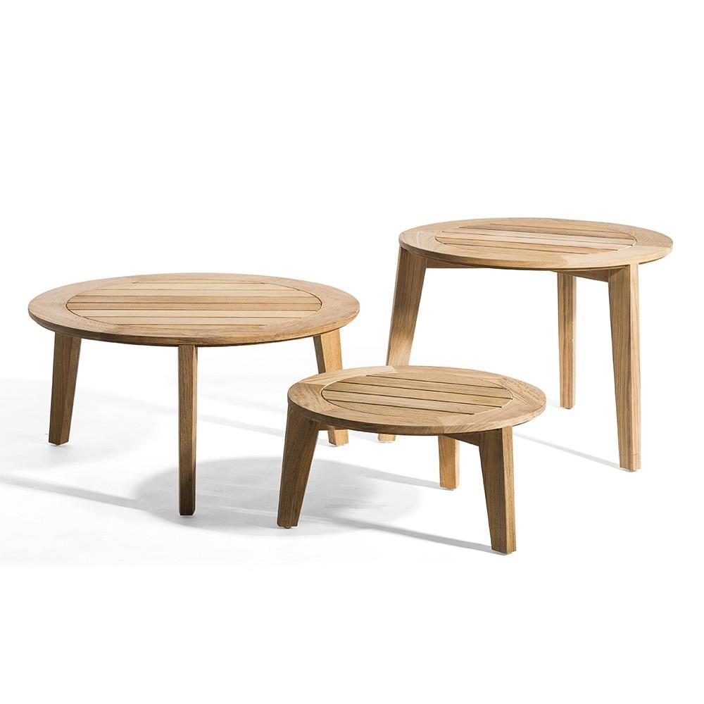 Attol side table teak 70 cm Oasiq