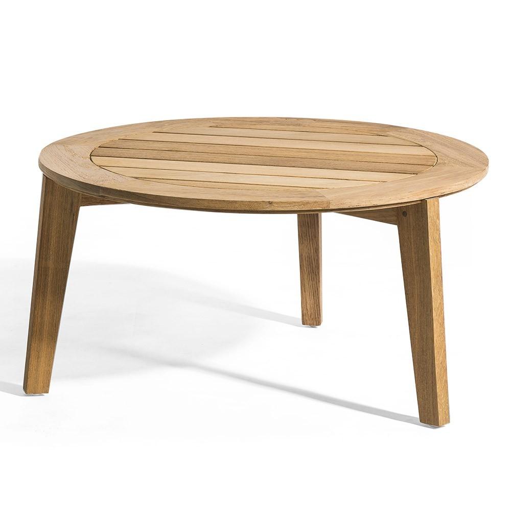 Table d'appoint Attol teck 70 cm Oasiq