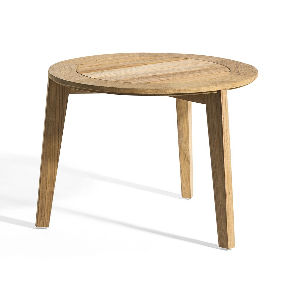 Table d'appoint Attol teck 60 cm Oasiq