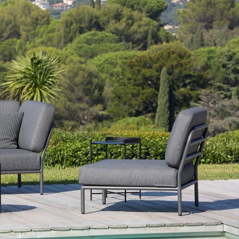 Chaise lounge Level gris foncé Houe