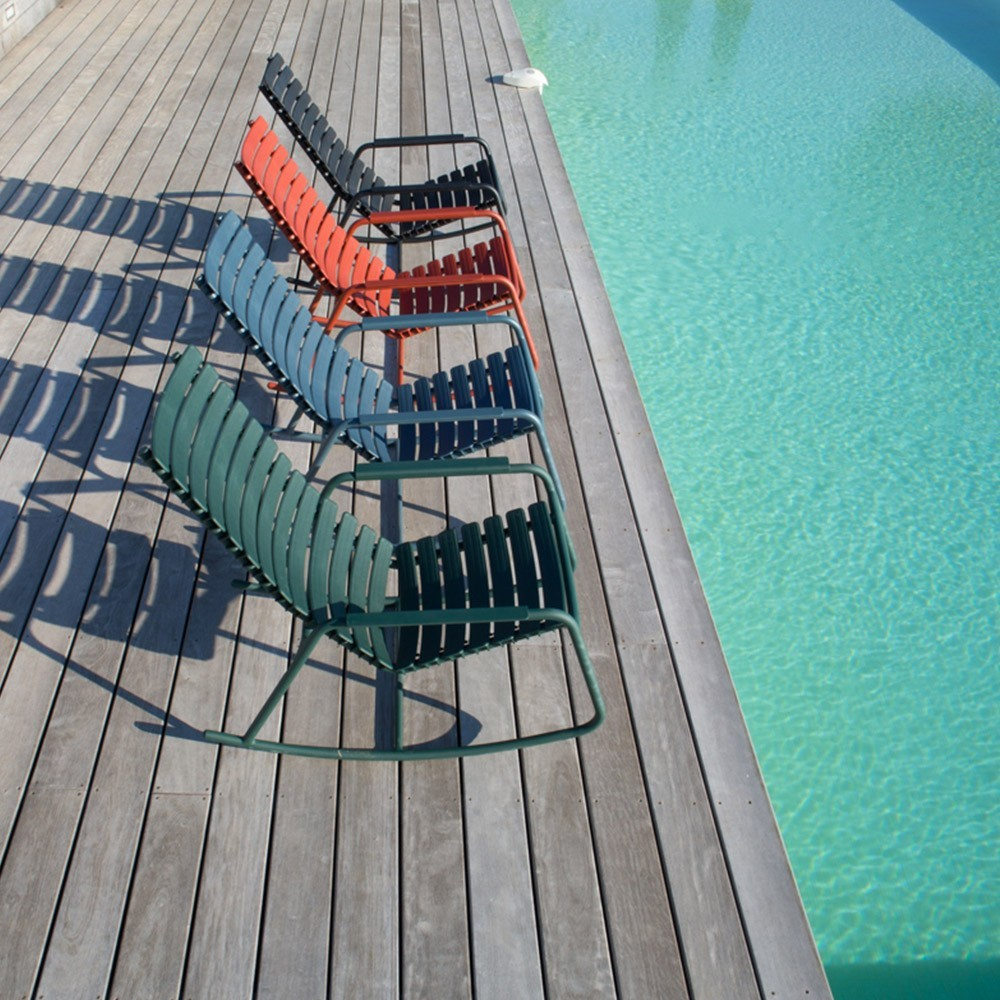 Nachtblauwe monochrome schommelstoelclips Houe