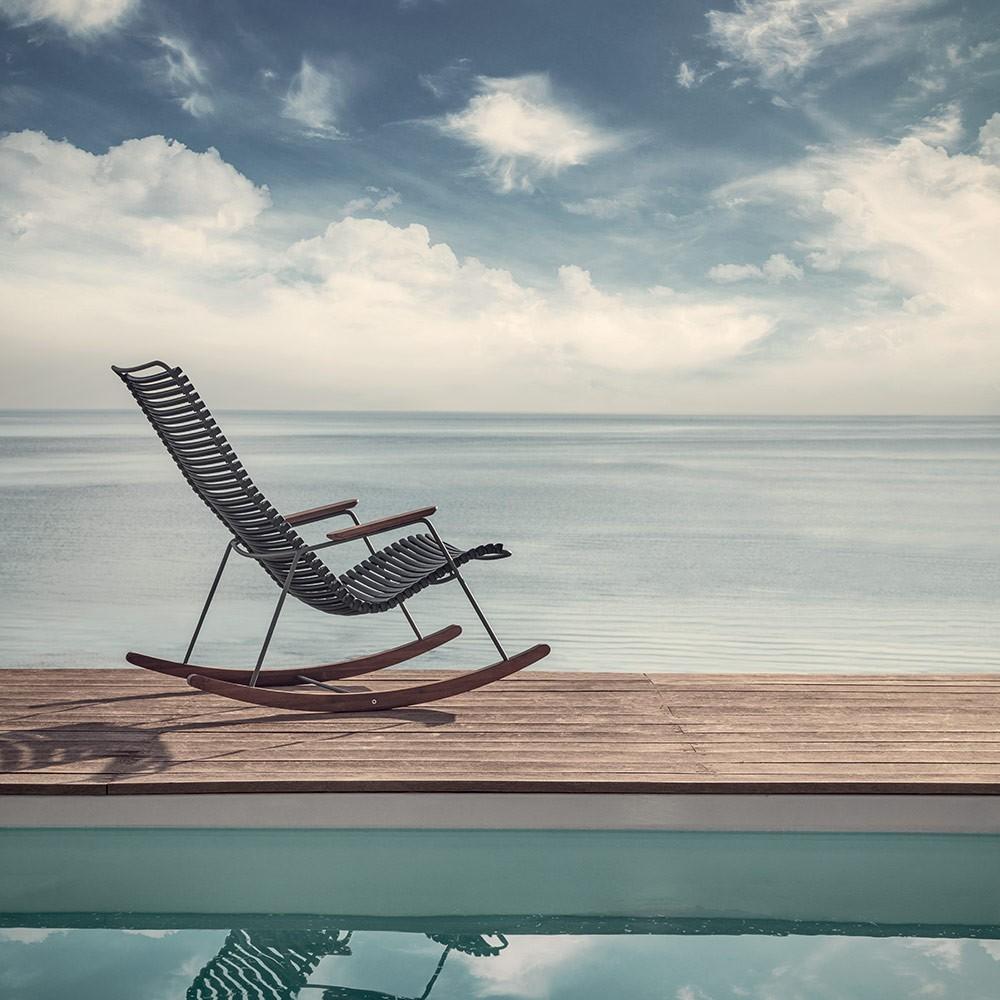 Rocking chair Click bleu pétrole Houe