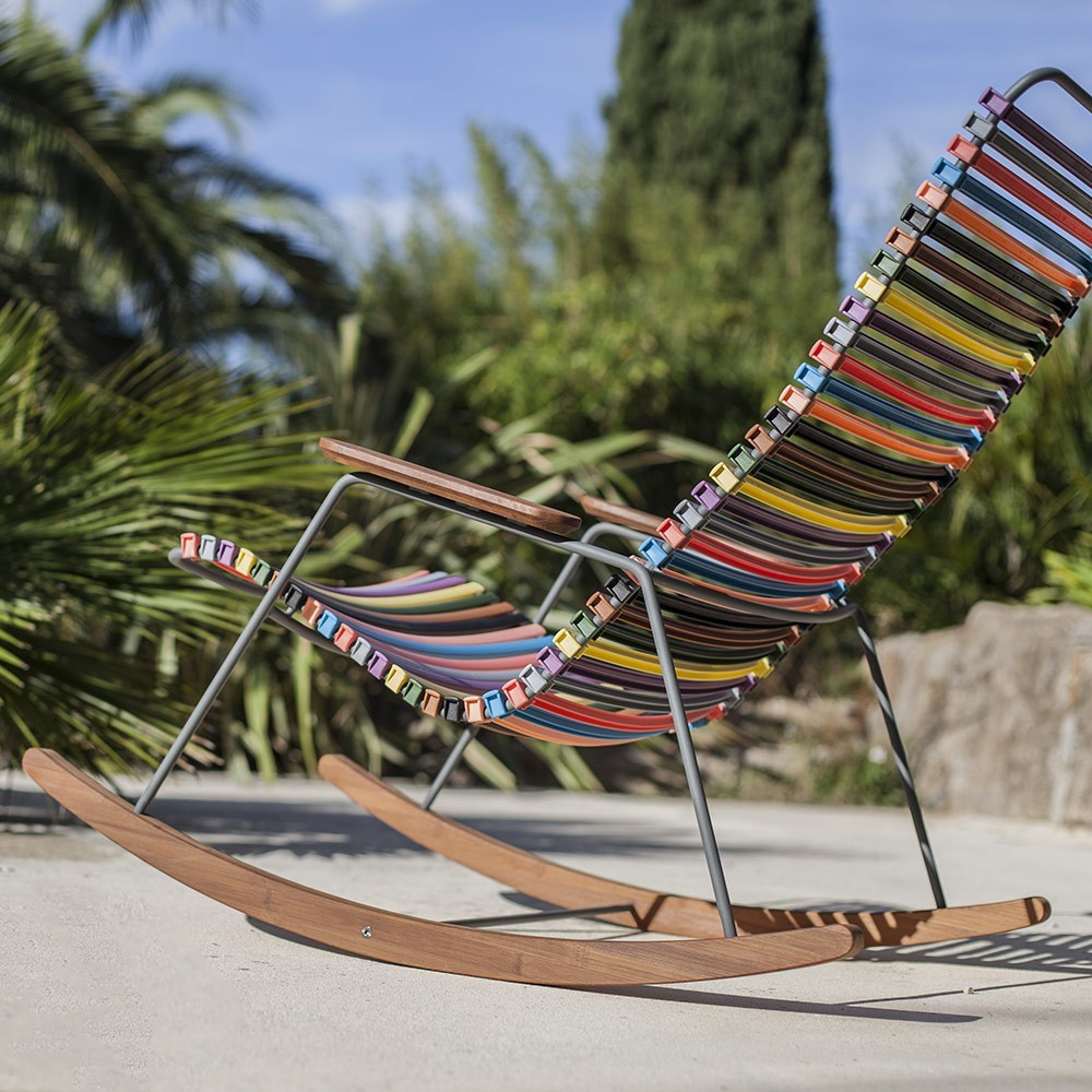 Rocking chair Click multicolore 1 Houe
