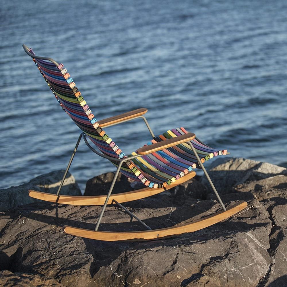 Sedia a dondolo Click multicolore 1 Houe