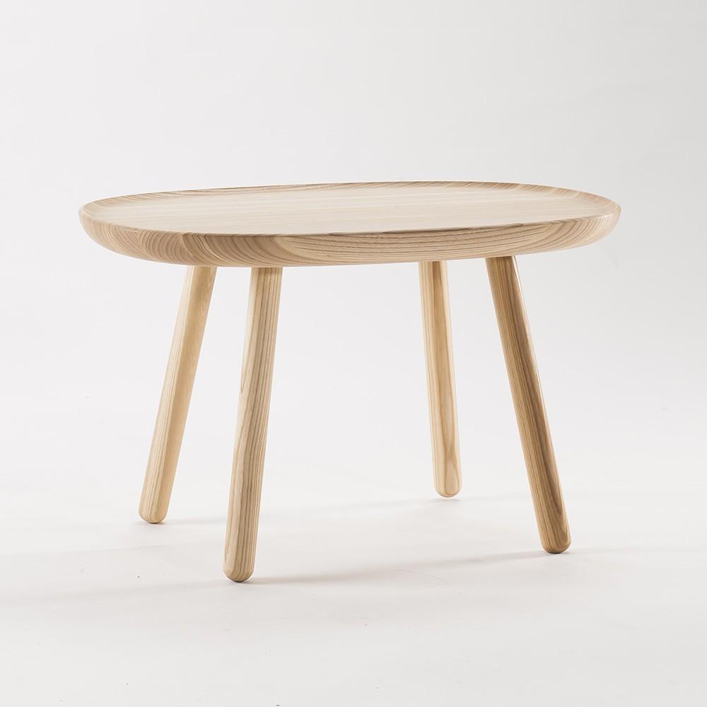 Table d'appoint Naive M en frêne naturel Emko