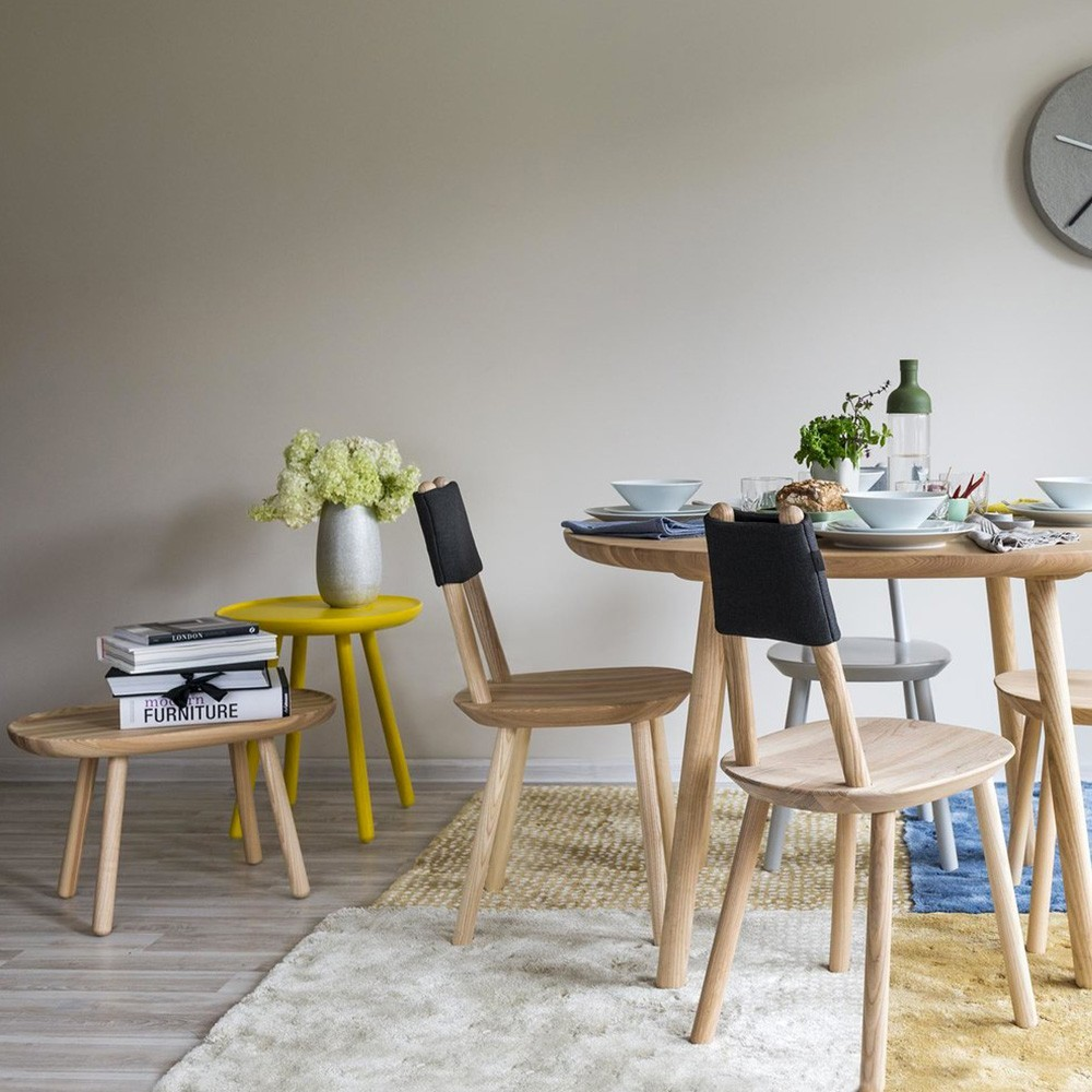 Table d'appoint Naive M jaune Emko