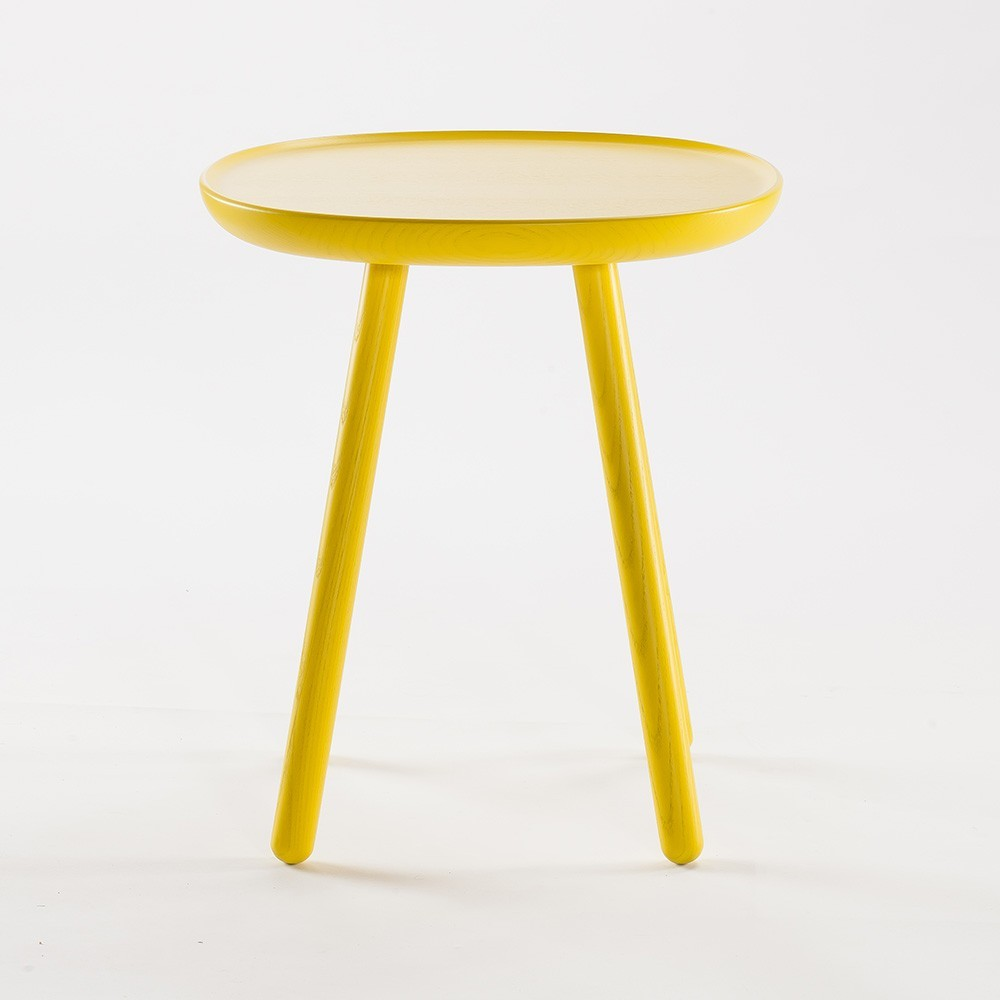 Table d'appoint Naive S jaune Emko