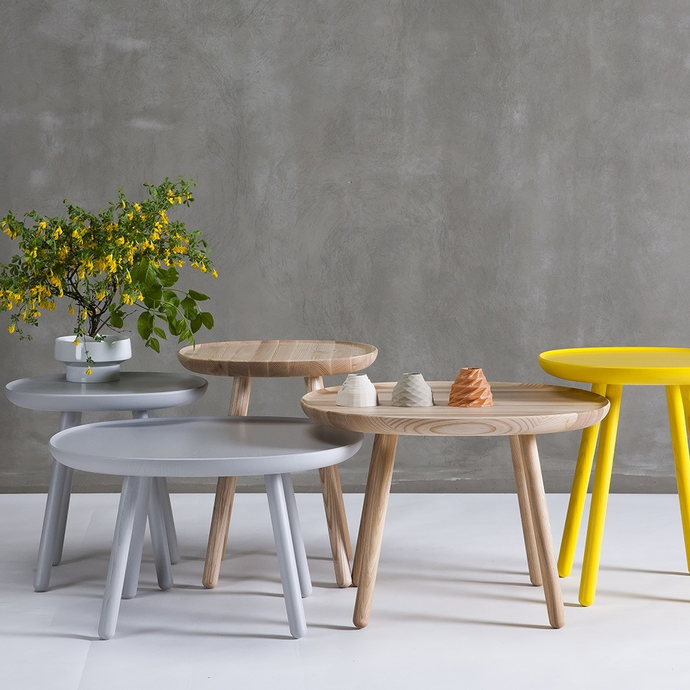 Naive side table L yellow Emko