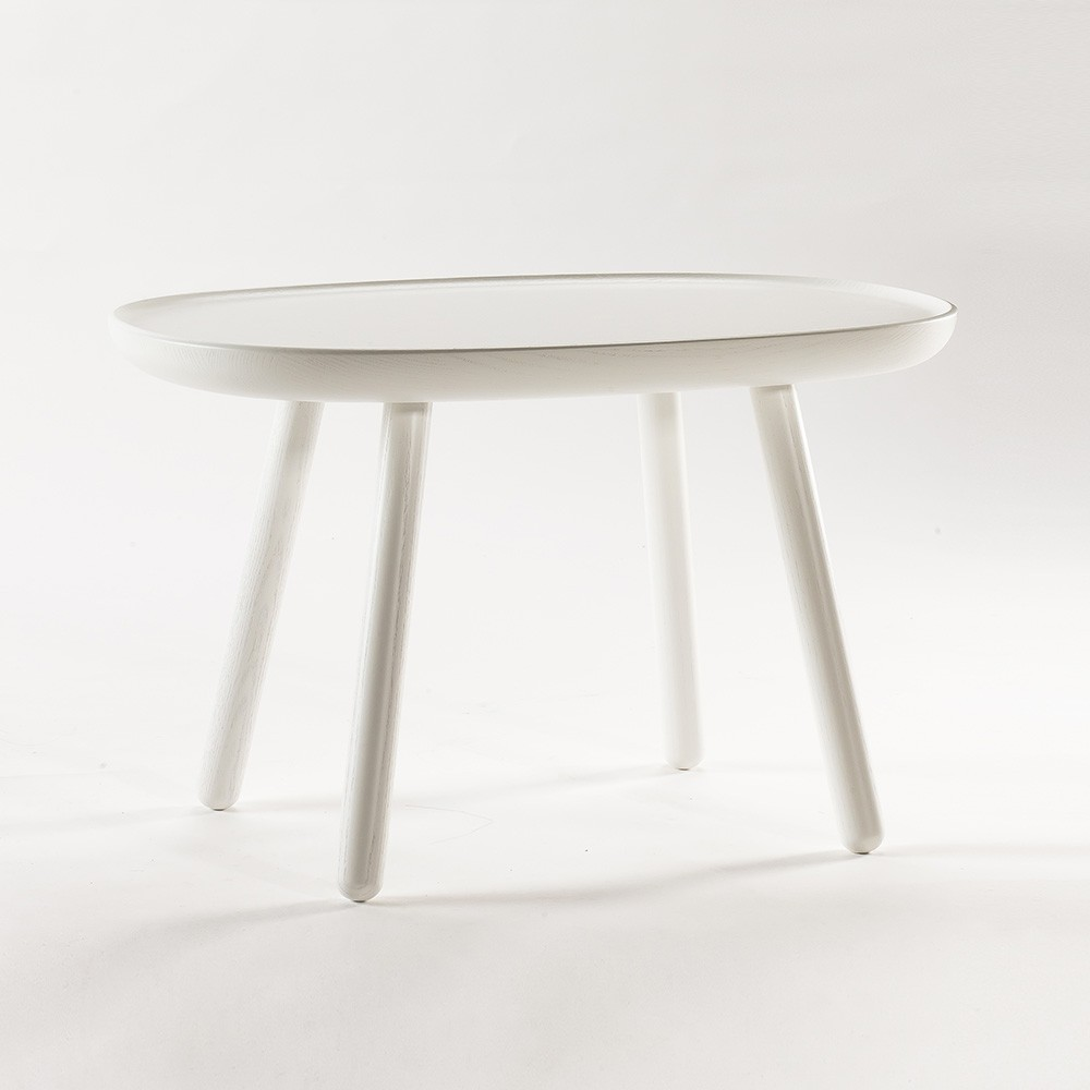 Table d'appoint Naive M blanc Emko