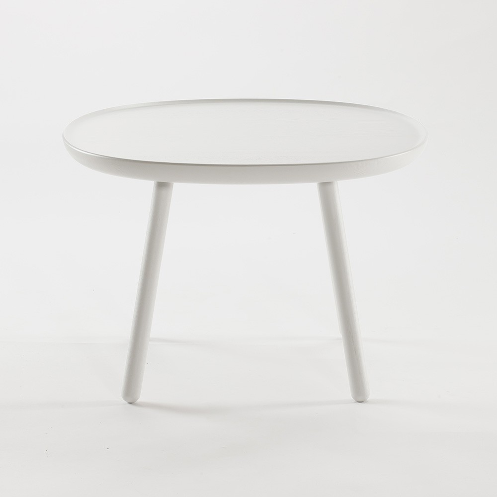 Naive side table L white Emko