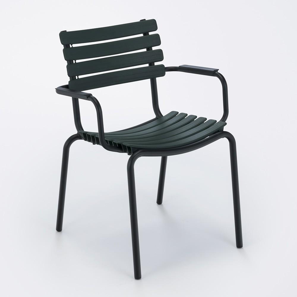 Click chair dark green Houe