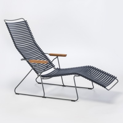 Sedia lounge Click blu scuro