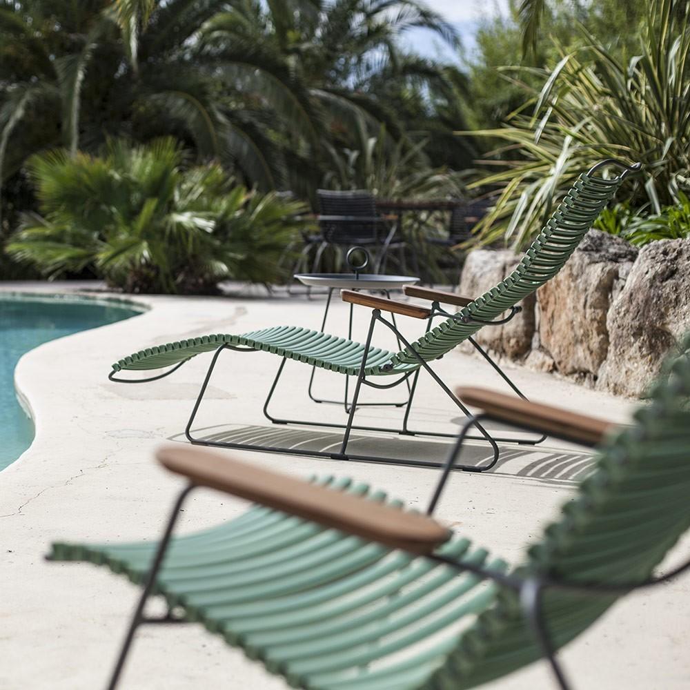 Sedia lounge Click blu scuro Houe