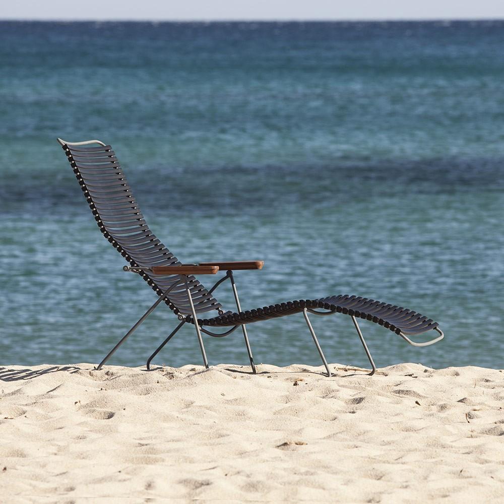 Chaise longue Click bleu foncé Houe