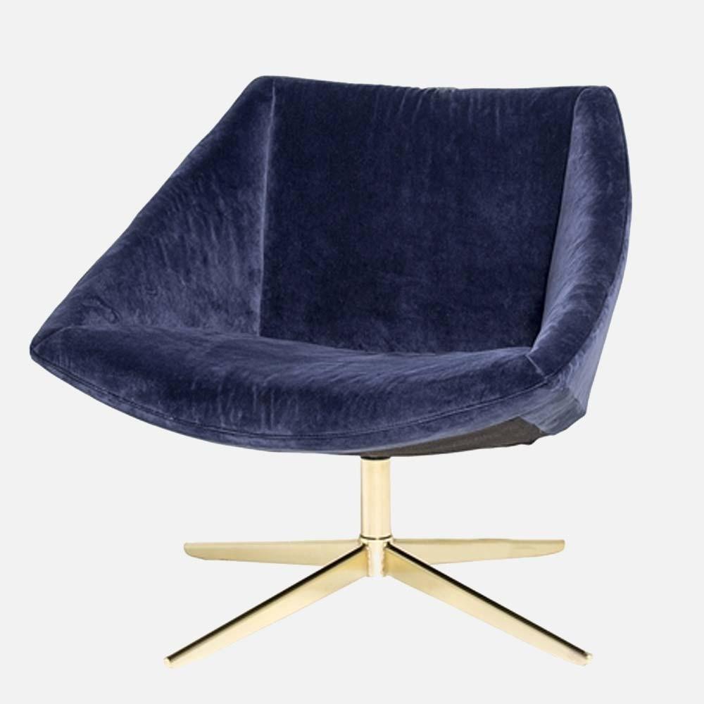 Fauteuil Elegant bleu Bloomingville