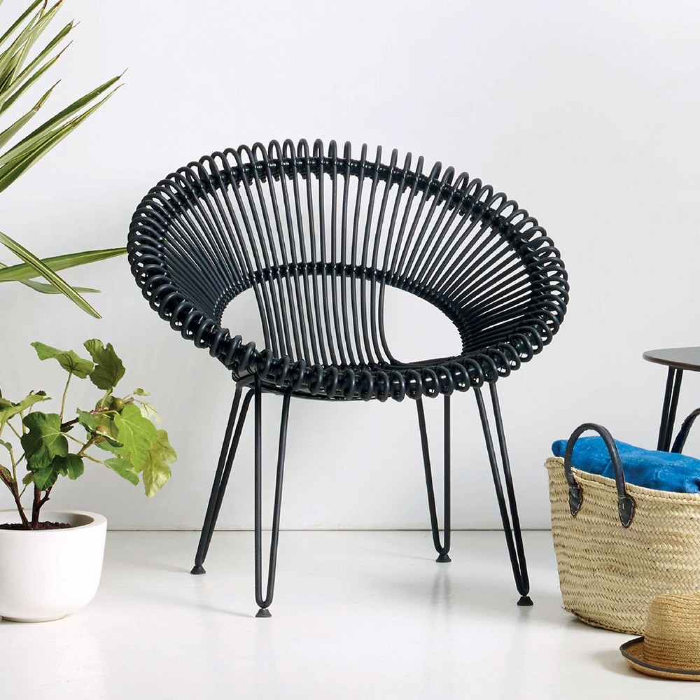Roy lazy chair black Vincent Sheppard