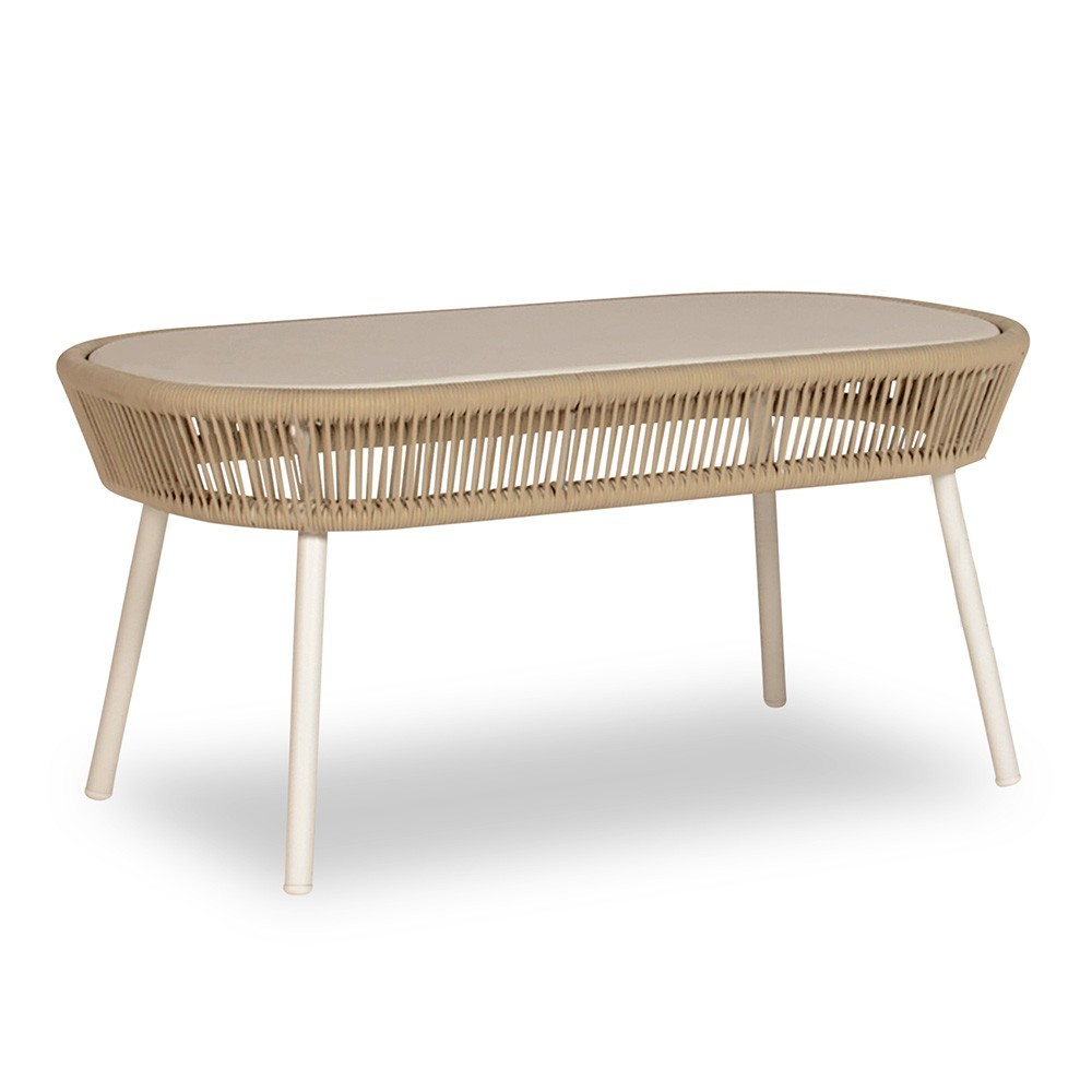 Loop coffee table beige/stone white Vincent Sheppard