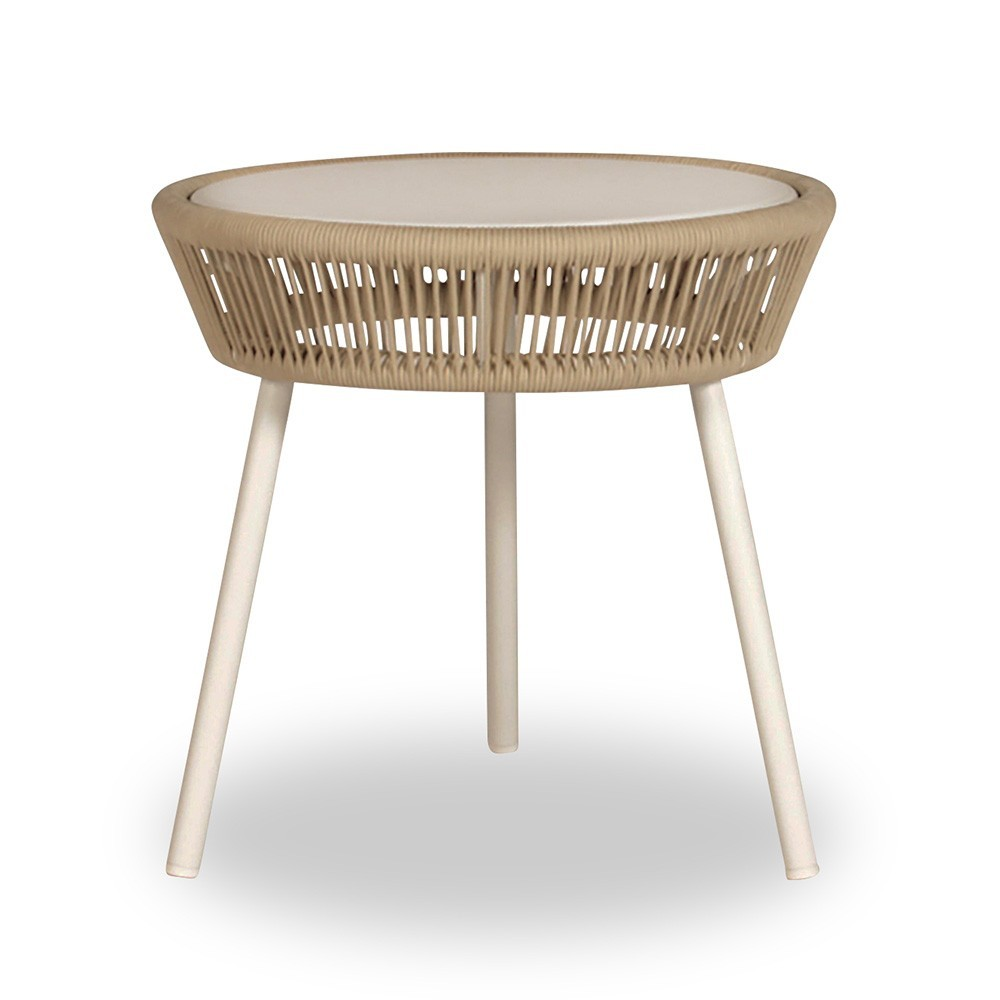 Loop side table beige/stone white Vincent Sheppard