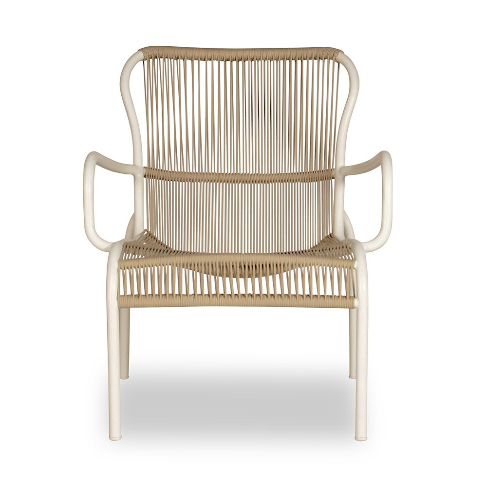 Loop lounge chair beige/stone white Vincent Sheppard
