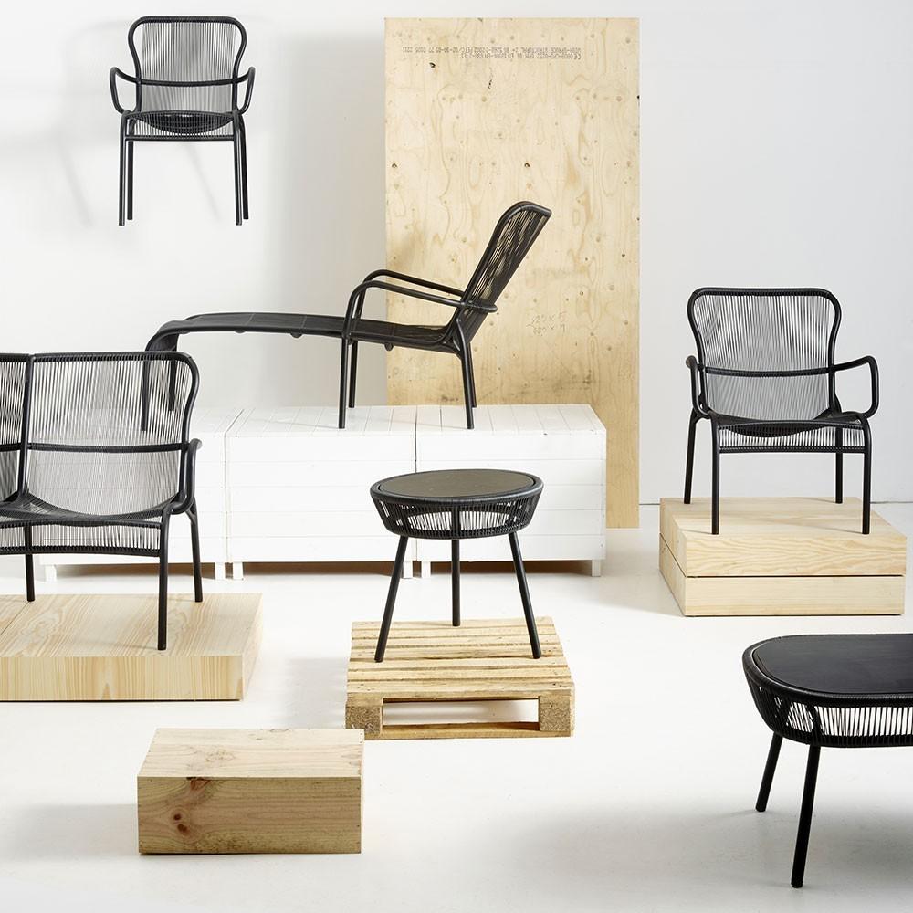 Loop lounge chair black Vincent Sheppard