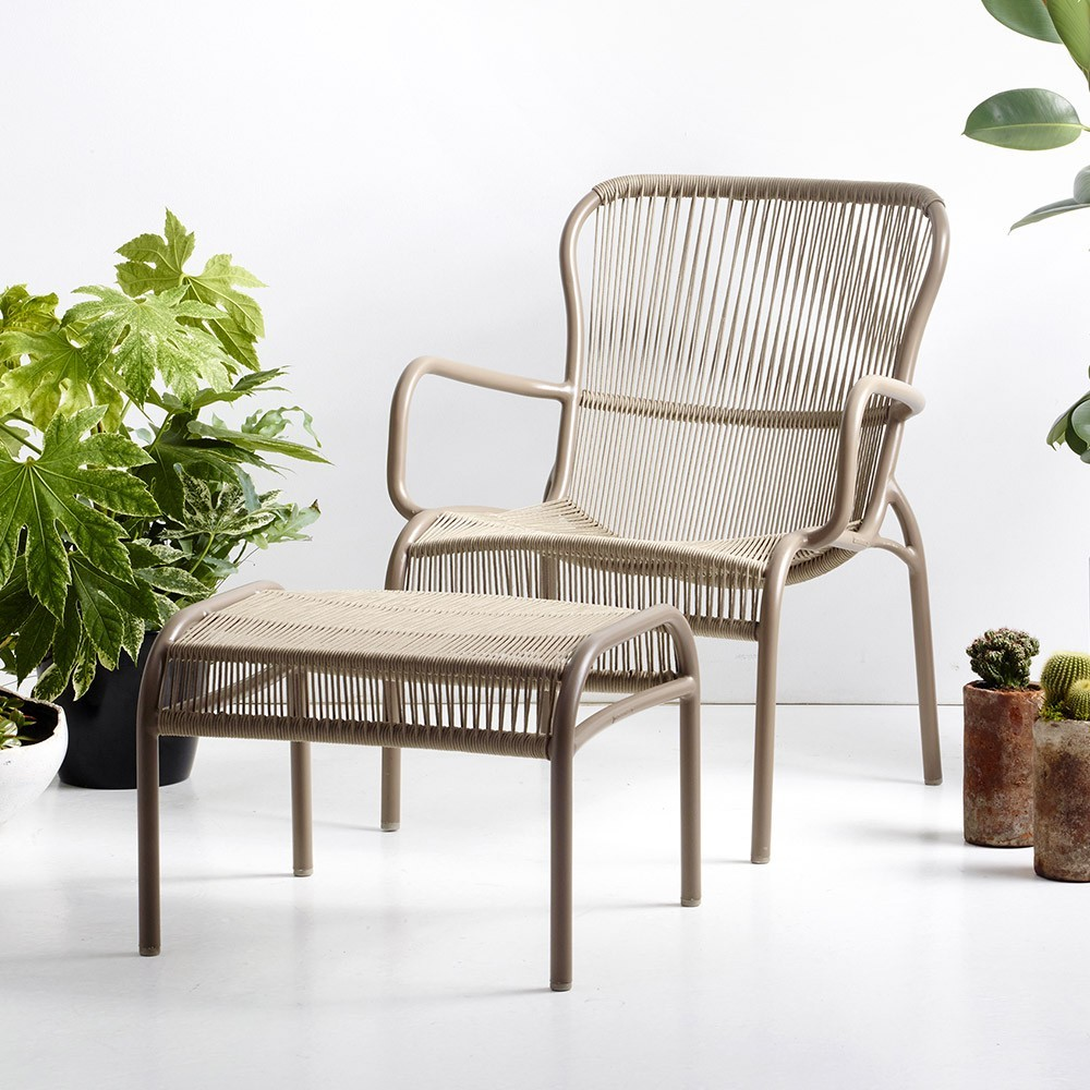 Loop lounge chair taupe Vincent Sheppard
