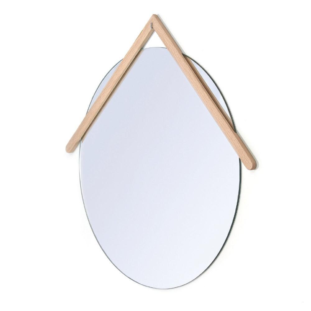 Grande specchio in rovere Lubin Hartô