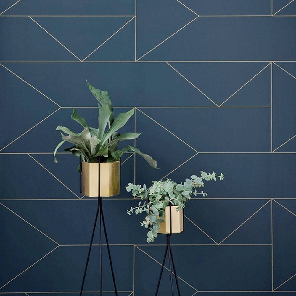 Hexagon pot brass L Ferm Living